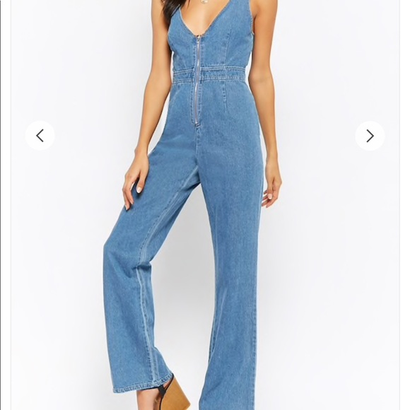 1f9d506d60b Forever 21 (Emory Park) Zippered Denim Jumpsuit